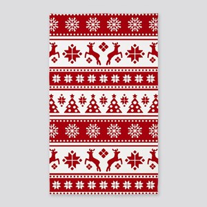 Christmas Holiday Nordic Pattern Cozy Area Rug